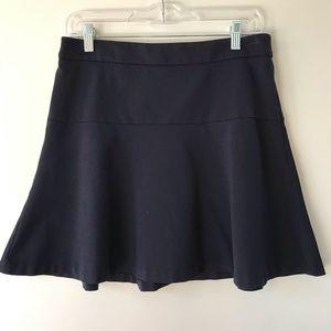 Banana Republic Navy circle A-line skirt- 6